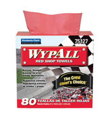 Kimberly-Clark 75127 Wypall Red Shop Towels, Box of 80