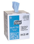 Tork 192149 Multi General Purpose T50 Wiper, Center Pull, Blue