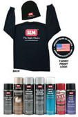 SEM Paints 79131 Aerosol Kit with XXL Long Sleeve Shirt & Hat