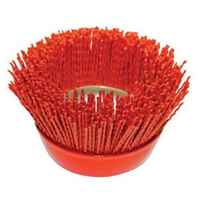 "AES Industries 51885 Nylon Filament Brush - 4"" Cup"