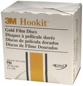 "3M 967 Hookit™ Gold Film Disc 00967, 5"", P80, 75 discs/bx"