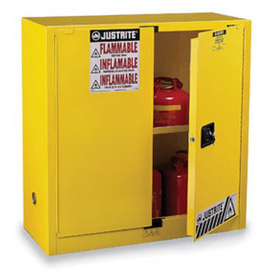 Justrite 894500 45 Gallons Yellow Safety Cabinets for Flammables