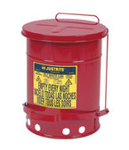 Justrite 09100 6-Gallon Oily Waste Can for General Use