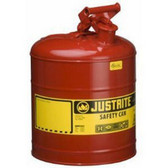 Justrite 7150100 5 Gallon Type 1 Red Safety Can