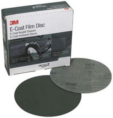 3M 00693 E-Coat Film Disc with Hook-it™ II, 6 in, P400, 50 discs per box
