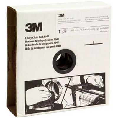 3M 19800 Utility Cloth Roll 314D, 1-1/2 inch x 20 yard, P120 Grit