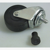 "Lisle 96422 Replacement Caster - 2"" Rubber for Plastic Creeper"