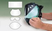 SAS Safety 9818-20 Peel Off Lens Cover For Sar Hood Qty 10