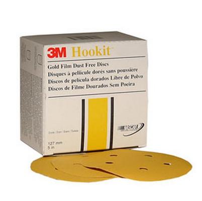 """3M 1079 Hookit™ Gold Disc D/F 01079, 6"""", P180C, 100 discs/bx"""