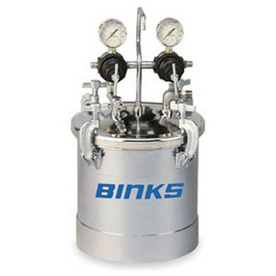 Binks 83C-220 PT II™ A.S.M.E. Code Pressure Tank, Double Regulation