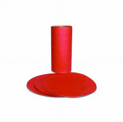 3M 1610 Red Abrasive PSA Disc, 5 in, P80 D Weight, 100 discs per roll