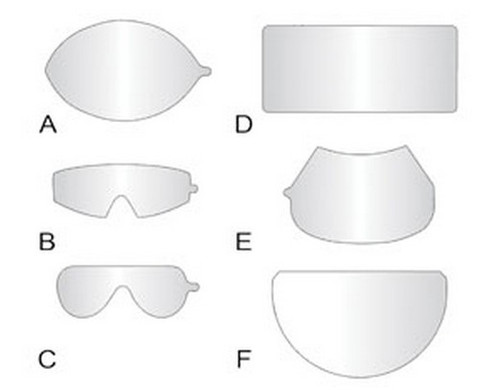 SAS Safety 1400-95 Peel-Off Lens Covers for Fullface Respirators - 25 pc.