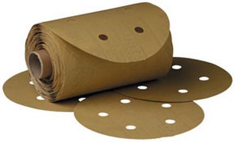 "3M 1643 Stikit™ Gold Disc Roll D/F 01643, 6"", P80A, 125 discs/roll"
