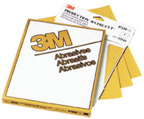 "3M 2536 Production™ Resinite™ Gold Sheet 02536, 9"" x 11"", P800A, 50 sheets/sleeve"