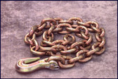 "Mo-Clamp 6008 3/8"" x 8' Chain with Grab Hook"