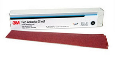 3M 1180 Red Abrasive Hookit™ Sheet, 2 3/4 in x 16 1/2 in, P150, 25 sheets per box