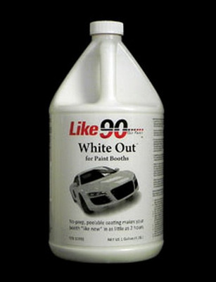 LIKE 90 10032 White Peelable Booth Coating, Gallon