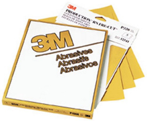 """3M 2549 Production™ Resinite™ Gold Sheet 02549, 9"""" x 11"""", P80A, 50 sheets/sleeve"""