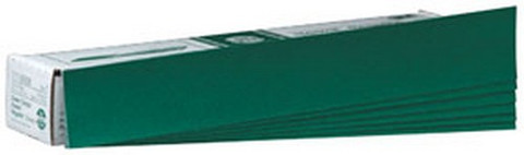 "3M 542 Green Corps™ Hookit™ Regalite™ Sheet 00542, 2 3/4"" x 16 1/2"", 40E, 50 sheets/box"