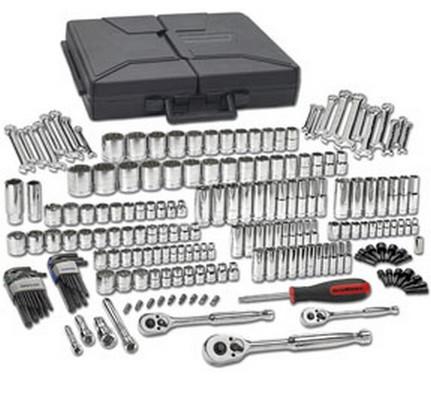 GearWrench 80933 216 pc. SAE/Metric 6 & 12 Pt. Mechanics Tool Set Multi Drive