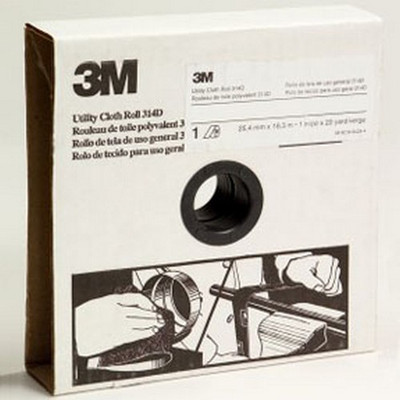 3M 19779 Utility Cloth Roll 314D, 1 in x 20 yd P180 J weight