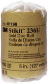 """3M 1198 Stikit™ Gold Disc Roll 01198, 5"""", P80A, 75 discs/roll, 12 rolls/cs"""