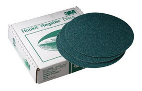 "3M 525 Green Corps™ Hookit™ Regalite™ Disc 00525, 8"" dia, 36E, 25 discs/bx"