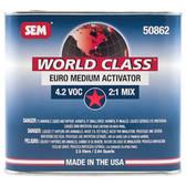 SEM Paints 50862 World Class 4.2 VOC Euro Medium Activator, 2.5Lt Can