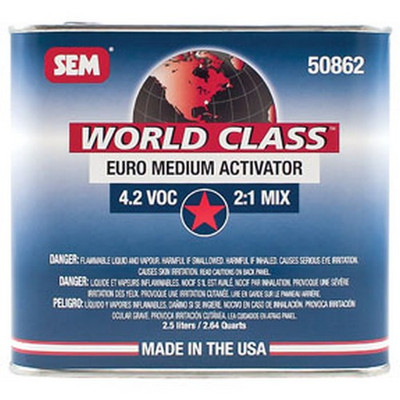 SEM Paints 50862 World Class 4.2 VOC Euro Medium Activator, 2.5Lt Can