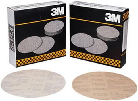 """3M 1318 Stikit™ Finishing Film Disc 01318, 6"""" , P1200, 100 discs/bx"""