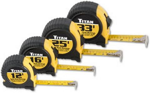Titan Tools 10902 Tape Measure Set, 4Pc