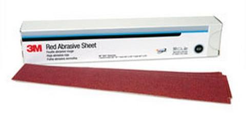 3M 1182 Red Abrasive Hookit™ Sheet, 2 3/4 in x 16 1/2 in, 40D, 25 sheets per box