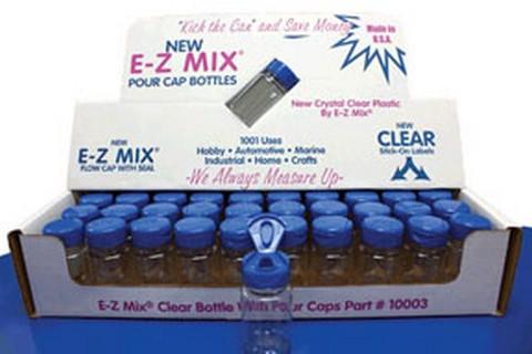 E-Z Mix 10003 2oz Clear Plastic Bottle w/ E-Z Flow Cap
