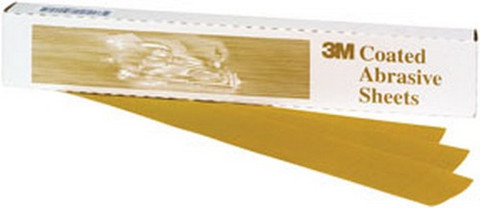 "3M 2569 Production™ Resinite™ Gold Sheet 02569, 2 3/4"" x 17 1/2"", P150A, 50 sheets/box"