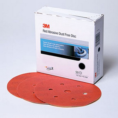 3M 1137 Red Abrasive Hookit™ Disc D/F, 6 in, P600, 50 discs per box