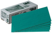 "3M 2225 Green Corps™ Production™ Resin Sheet 02225, 3 2/3"" x 9"", 80D, 100 sheets/box"
