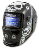 Titan Tools 41282 Solar Powered Auto Dark Welding Helmet, Skull/Pistol