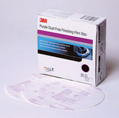 3M 30767 Purple Finishing Film Hookit™ Disc Dust-Free, 6 in, P1500, 50 discs per box