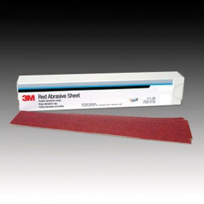 3M 1679 Red Abrasive Stikit™ Sheet, 2 3/4 in X 16 1/2 in, P80 D Weight, 25 sheets per box