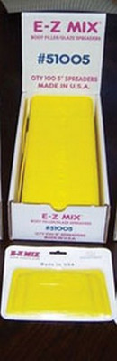 "E-Z Mix 51005  Plastic Filler/ Glaze Spreaders, 5"" Body Filler/glaze Spreaders"