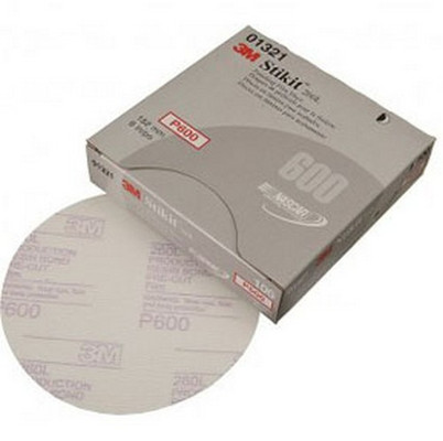 "3M 1321 Stikit™ Finishing Film Disc 01321, 6"" , P600, 100 discs/bx"