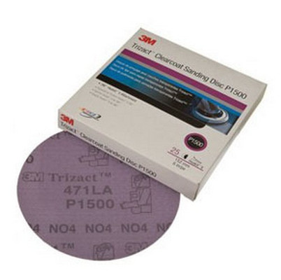 3M 2094 Trizact™ Hookit™ Clear Coat Sanding Disc, P1500, 3 in, 25 discs per box
