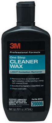 3M 39006 One Step Cleaner Wax Light Oxidation Remover 39006, 16 oz