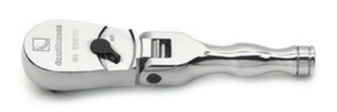 """GearWrench 81212F 3/8"""" Drive Stubby Flex Head 84 Tooth Ratchet - Full Polish"""