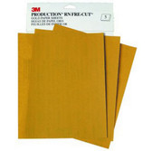 3M 2542 Production™ Gold Sheet, 280 grit