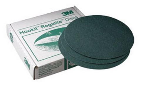 "3M 521 Green Corps™ Hookit™ Regalite™ Disc 00521, 8"" dia, 80E, 25 discs/bx"