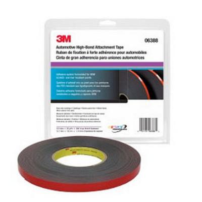 3M 6388 Automotive Acrylic Plus Premium Attachment Tape, 1/2 inch x 20 yards, 45 mil