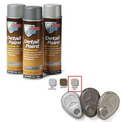 POR-15 41818 Detail Paint Aerosol Can, Stainless Steel
