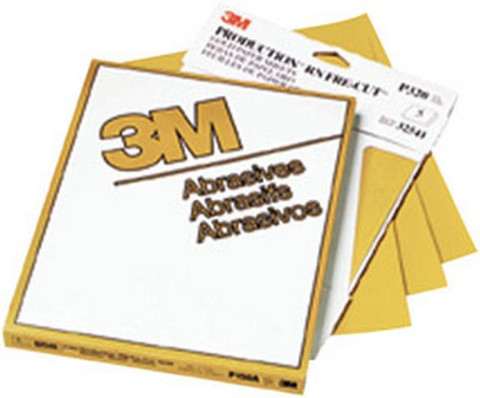 "3M 2548 Production™ Resinite™ Gold Sheet 02548, 9"" x 11"", P100A, 50 sheets/sleeve"