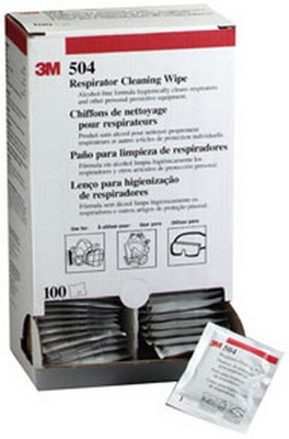 3M 7065 Respirator Cleaning Wipe 504/07065(AAD), Alcohol-Free, Individually Packaged